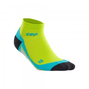 Sosete Alergare CEP Dynamic+ Run Low-Cut M Lime / Albastru