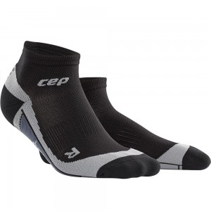 Sosete Alergare CEP Dynamic+ Run Low-Cut M Negru / Gri