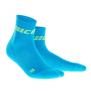 Sosete Alergare CEP Dynamic+ Run Ultralight Short M Bleu / Verde