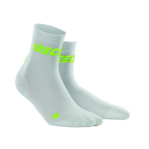 Sosete Alergare CEP Dynamic+ Run Ultralight Short M Alb / Verde