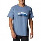 Tricou Drumetie Barbati Columbia Tech Trail Graphic Tee Albastru