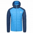 Geaca Drumetie Barbati The North Face M Thermoball Sport Hoodie Clear Lake Blue/Blue Wing Teal (Albastru)