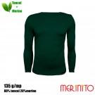 Bluza Barbati Merinito 135G 80% Tencel 20% Lana Merinos Verde