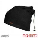 Caciula / Tub Unisex Merinito Soft Fleece 100% Lana Merinos Negru