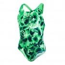 Costum baie Fete Speedo Motionkick Splash Negru / Verde