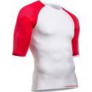 Tricou Compressport On/Off Multisport White Red