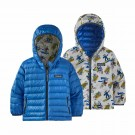 Geaca Puf Copii Patagonia Baby Reversible Down Sweater Hoody Mr. Badger: Dyno White (Multicolor)